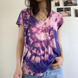 James Perse Tops - Tie Dye James Perse V-neck T-shirt